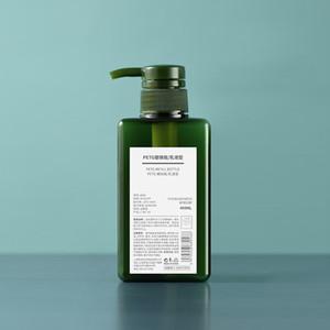 450 ml PETG POMCUMA Loción Cuadrado Botellas de ducha Gel Mano Desinfectante Botella Cosmética Sub-embalaje Botella de plástico 6 colores DHA3094