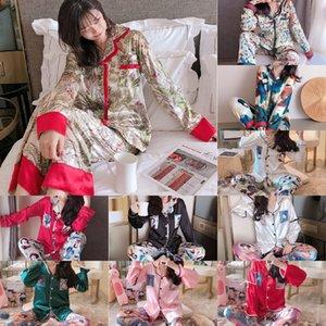 B1ep Zoolim 4 Parça Kadın Kayış Setleri Gecelikler Pijama Ipek Saten Pijama Spagetti Pijama Sleep Lounge Pijama Göğüs Pedleri ile Y19072001