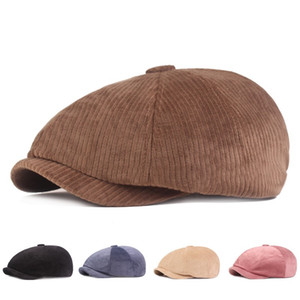 Casual Beret Korea Fashion Solid Color Octagonal Cap Artistic Young People Womens Mens Forward Hat Europe America Hot Sale 13 5xj M2