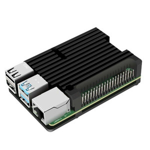 Cassa di raffreddamento per Raspberry PI 4 Modello B Caso di alluminio Caso di alluminio Raffreddamento in alluminio Alloy Pro W2E Componenti per computer Nero