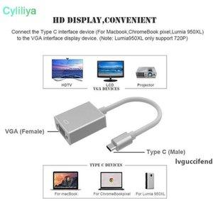 USB 3.1 Тип C до VGA 1080P HDTV USB Type-C на VGA адаптер для нового MacBook Air 12