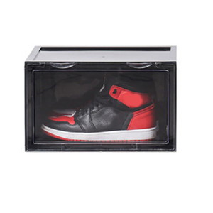 Sneaker Shoe Box Acrylic Sneaker Display Box Shoes Storage Case Organizers Stackable Foldable E2S Y1128