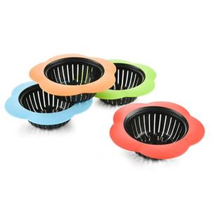 Silicone cozinha pia filtro em forma de chuveiro chuveiro Drinking Drenes de cobertura Colander esgoto filtro de cabelo acessórios fwd3102