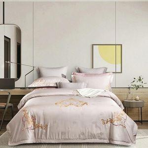 New 1200TC Egyptian Cotton Bedlinen jacquard bedcover duvet cover bedsheet pillowcase bedding set Bed Set
