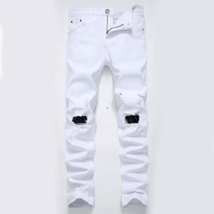 JH Wholesale Men's jeans jeans pour hommes tide hole nostalgic big tattered men's denim trousers causal pants