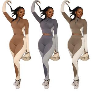 Vêtements pour femmes 2 pièces ensemble hiver manches longues lambris femmes jogging costumes de jogging mode décontractant designer