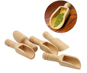 Mini Holzschauflinge Bad Salzpulver Reinigungsmittel Pulver Löffel Süßigkeiten Wäscherei Tee Kaffee Löffel Umweltfreundliche Holz Mini Scoops