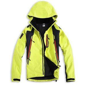 Men Two detachable Softshell Jackets multi-function Hiking Outdoor Sports Fishing Clothes Camping Skiing Rain Windbreaker Q1202