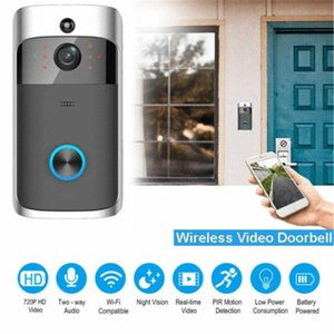 Wireless V5 Smart WiFi Campanello IR Video Video Visual Ring Camera Telecomando Intercom HD Visibile Monitor Night Vision Security
