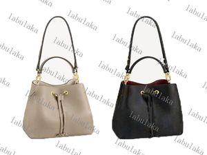 Saco de doces Top Quality Neoneo Classic Bucket sacos cordão balde sacos de couro genuíno bolsa de ombro moda senhora bolsa bolsa