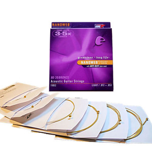 Brand Acoustic Guitar Strings Fosphor Bronze Shade 11025 16027 16052 11052 11002 11027 11100 16002 16077 16102 6pcs = 1 set