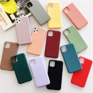 Ultra-Thin Candy Color Matee Mateed Soft TPU Телефон Чехол Силиконовые Степени Шейсы Для iPhone 12 Mini 11 Pro Max X XS XR 7 8 6 Plus