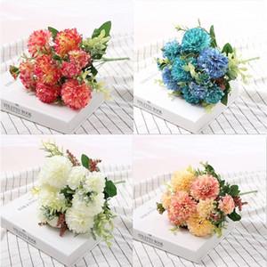 hydrangea silk flower Ball White Dandelion artificial flowers birthday home wedding decoration accessories fake flowers bouquet