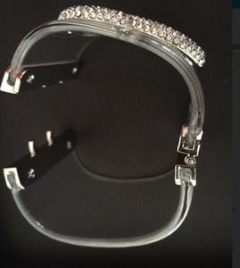 Braccialetto trasparente di cristallo e braccialetto perla! Braccialetti di braccialetti acrilici di modo braccialetti del braccialetto per le donne con la borsa