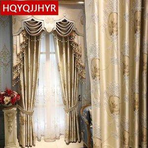 الستائر الأوروبية والأمريكية Royal Living Stating Living For Villa Hotels عالية الجودة ستائر لغرف النوم 1