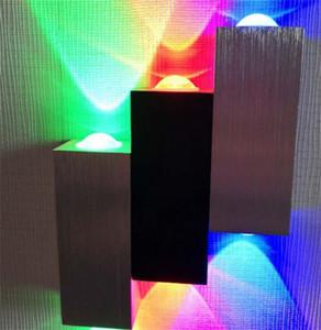 Decoración de la pared Familia Luces LED Sala de estar Dibujo del hotel Aluminio rojo verde y azul tricolor LED lámpara decorativa nueva llegada 28zl J2