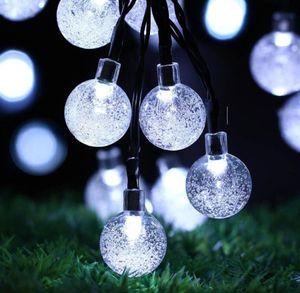 Солнечный свет Crystal Ball 6.5M 30 LED гирлянд Сказочные огни Солнечный Garland Сад Свадебные Праздники Рождественские украшения на открытом воздухе