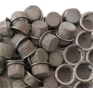 Tubulação de fumaça de fumaça fuligem de filtro de soot de aço inoxidável e material de latão 16mm filtros tela sem costura hemming quente venda 0 7SW N2