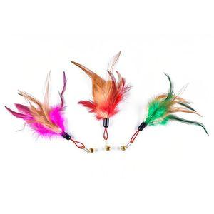 Legendog 1pc Color Color Color Caballero Reemplazo Creativo Faux Feather Cat Training Toy Cat Play Toy Pet Supplies Rand Qylulz
