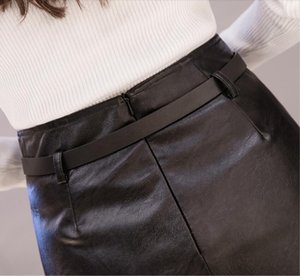 Women Autumn Winter Pu Leather Skirt Short Skirt Female Irregular High Waist PU Skirt Skirts Women LY