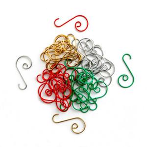 Noel S Şekli Kanca Bebekler Kolye Aksesuarları Noel Süslemeleri Ev Noel Ağacı Asılı Hooks Yeni Yıl 4 Renkler