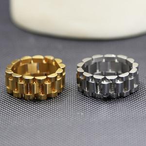 Роскошные дизайнерские кольца моды кольца для женщин мужские часы для часов стиль кольцо манжеты браслет высококачественные мужские украшения из нержавеющей стали