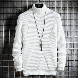 Spring Autumn Men's Sweater Streetwear Japan Style Sweater Men Casual Long sleeve Men's Clothing Turtelneck Men