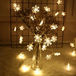 Kar Tanesi Lamba Dize LED Küçük Renkli Lamba Yıldız Pil Kutusu Flaş Noel Lamba Günü Dekorasyon 3 Metre 20 Işıklar T3I51464