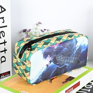 10 Design Big Size Anime Demon slayer Pencil Case Pen Bag for School Student Ballpoint Bags for mobile phone and cosmetics