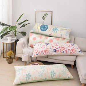 Superfine Plush Body Pillow Case 50x70 Floral Print Long Throw Pillow Covers Decorative Pillowcase for Bed Couch Home Decoration