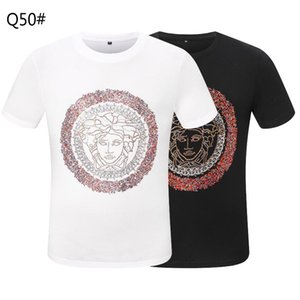 Ummer Paris para hombre ropa de lujo taladro caliente camiseta diagonal letra impresión t shirt moda r tshirts casu; 996