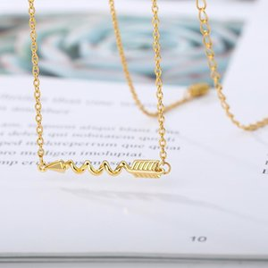 Rotating Arrow Necklace For Women Men Gold Silver Color Stainless Steel Choker Chain Pendant Punk Jewelry Bff Gifts For New Year
