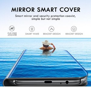 Smart Mirror Phone Case For Xiaomi Mi Poco X3 Nfc X2 M2 F1 F2 Pro Note 10 Lite Case F jllLUs