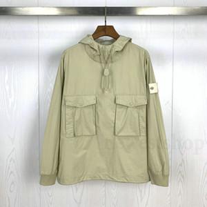 20ss hotselling piece smock / anorak القطن النايلون تلة البلوز سترة الرجال النساء معاطف الأزياء مصمم قميص معطف