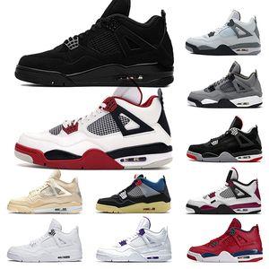aj retro 4 I più nuovi scarpe da basket uomo OG allevati per 2019 Cactus Jack Houston Oilers bianco cemento Mens designer Trainer Sport Sneakers taglia