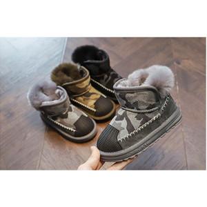 Ragazzi ragazze moda stivali da neve 2020 Nuovo arrivo bambini casual camuffamento shell-toe scarpe chidlren baby inverno stivali addensati
