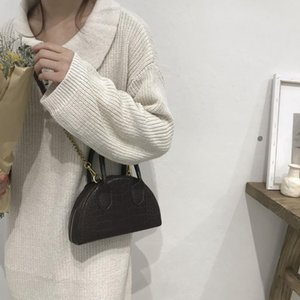 womenStone Pattern Pure Color Soft Leather Crossbody handBags 2020 new fashion Handbags and purse High quality designer bags