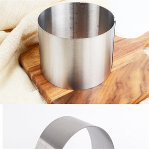 Stainless Steel Cake Ring Adjustable Practical Round Mousse Rings Safe Resist Compression Mould Baking Tools Easy Carry 6 8lc cc
