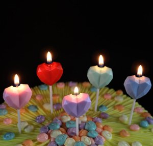 Diamond Love Birthday Candle Creative Heart Shaped Smokeless Cake Candle For Birthday Banquet Proposal Marriage Wed wmtHCr dayupshop