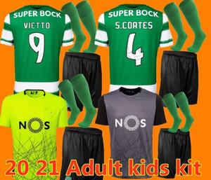 Yetişkin Çocuk Seti Spor Futbol Forması 20 21 Lizbon Futbol Gömlek 2020 2021 Ronaldo Fernandes Nani Futbol Jersey Maillot