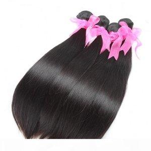 6шт много окрашенных 7А бразильские волосы уцингистыми волосами натуральные черные девственницы человеческие волосы наращивание извращений Factory Outlet шелковистые прямые волосы