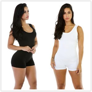 Sleeveless Backless Women Rompers Summer Beach White Slim Tank Top Playsuits Jumpsuits Female Sexy Bodycon Elastic Overalls