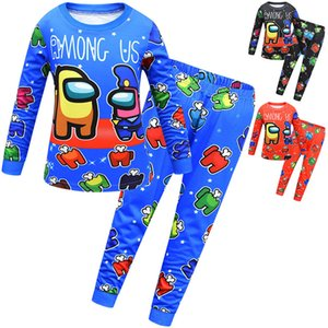 Among Us Game Pajamas Sets Children Kids Cartoon Cute Long Sleeve T-shirt Pants Outfit Junior Boy Two Piece Clothing Sleepwear CZ122104