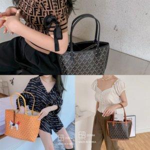 JBq Korean shopping emo luxury upgraded Graffiti dogtooth designer basket mummy Korean bag shopping bag large capacity fashion