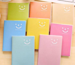 Mini Notepads Portable Notebook Candy Smiley Face Notepad Hard Cover Creative Trend Stationer Journal Book School Office Supplies EWC4103