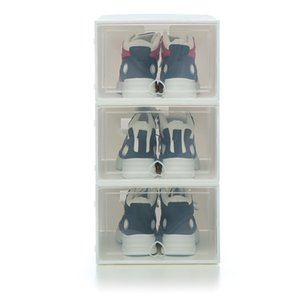 3pc AJ shoe box large Capacity storage shoe boxes High top sneakers dustproof shoes organizer box Basketball shoe cabinet Z1123