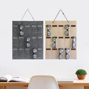 Sunglasses Organizer Storage Hanging Bag Wall Pocket Felt Hanging Eyeglasses Holder Unique Sunglasses Compartment
