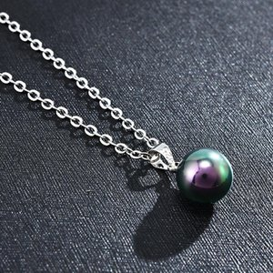 2020 New Womens Fashion Genuine Natural Black White Freshwater Pearl Pendant Necklace Chain Jewelry For Women sqcKVD