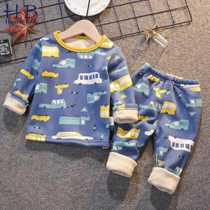 Mizah Bear çocuk kadife iç çamaşırı giyim suits weatthickingnickingwinter bebek ev giyim erkek kız pijamalar