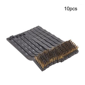 Hot Sale 2pcs 10pcs 20pcs 17cm Total Length Copper Wire Cleaning Brush 1.3cm Working Height Metal Brush Plastic Handle1